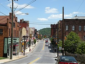 West Pike Street près de l'intersection de North Jefferson Avenue à Canonsburg.