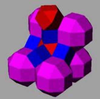 Convex uniform honeycomb - Image: Cantellated cubic honeycomb