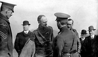 RAF Montrose - Image: Capt Becke arrival at Upper Dysart 26 February 1913