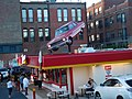 Car on roof, Zane's Drive In. (35677348602).jpg