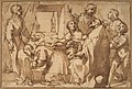 Cardinal Paolo Sfondrato Kneeling Before Saint Cecilia, Accompanied by other Saints MET DP812815.jpg