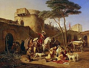 Spanische Guerillas in einem Fort