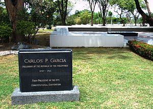 Carlos P. Garcia - President Garcia's tomb at the Libingan ng mga Bayani.