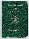Carnet de Paracaidista Deportivo - Real Aero Club de España.jpg