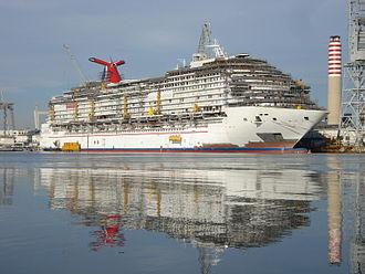 Carnival Dream - The vessel under construction in 2008.