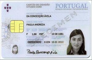 Citizen Card (Portugal) - Verse of a Cartão do Cidadão