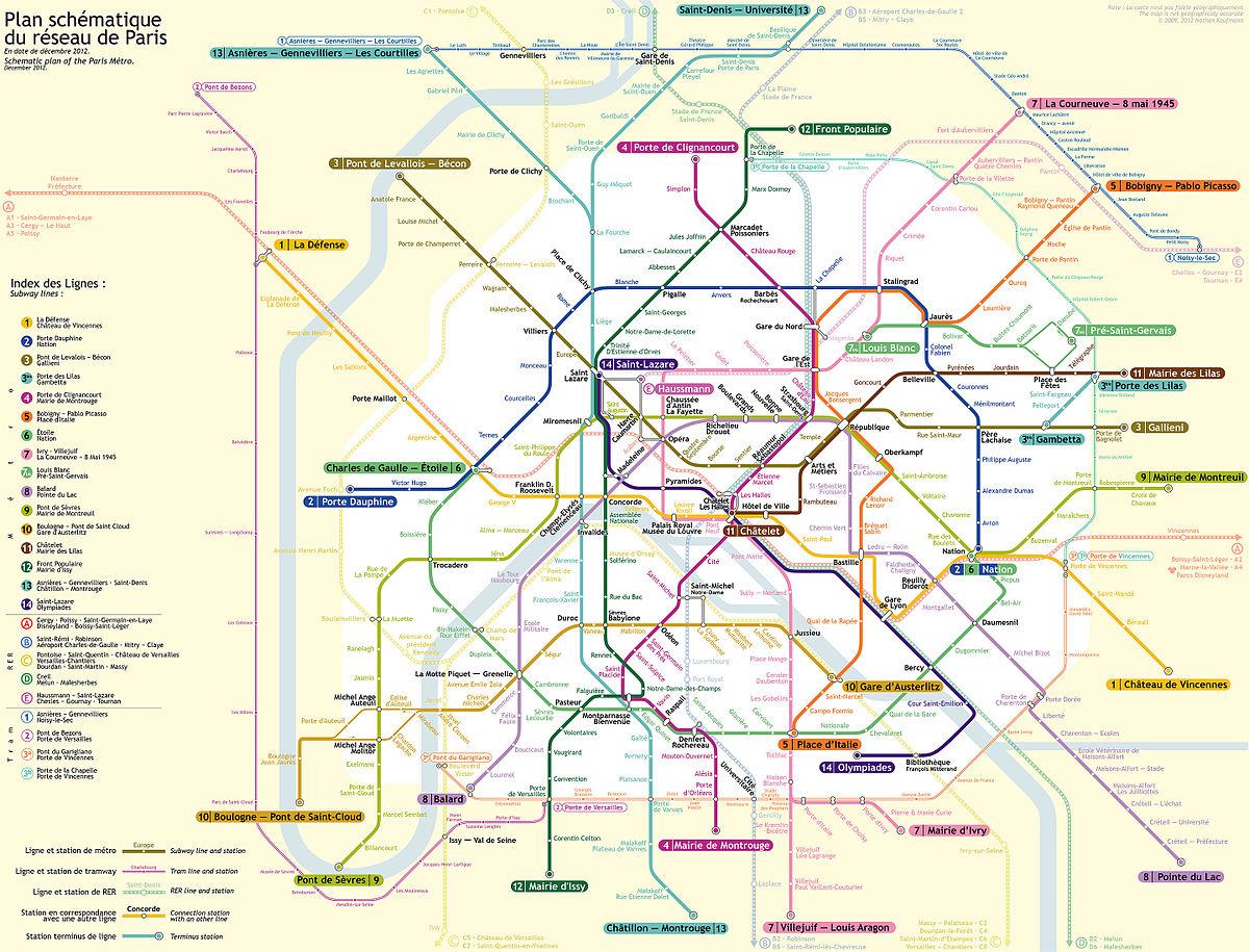 Cartina Citta Di Parigi.Mappa Della Metropolitana Di Parigi Wikipedia