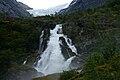 Cascada del glaciar.Briksdal.Noruega 1.jpg
