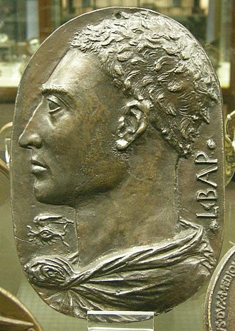 Medal of John VIII Palaeologus - Alberti's self-portrait plaque, c.1430-45 (Paris, Cabinet des Médailles)
