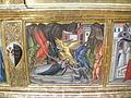 Cenni di francesco, incoronazione della vergine con sannti, anni 1390, predella 02 tentazioni di sant'antonio.JPG