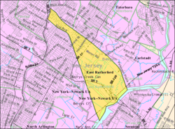 Census Bureau mapa de East Rutherford, New Jersey