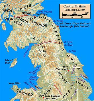 Hen Ogledd - Image: Central.Britain.c 550
