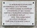 Centre d'histoire de la résistance et de la déportation (Lyon) - plaque hommage des victimes juives.JPG