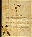 "Certificate giving Kr-on-o-run-co (Swift Flyer), soldier of the Yankton Tribe of Sioux, the ""Dignity of Soldier,"" signed William Clark and Frederick Bates, August 1, 1815.jpg"