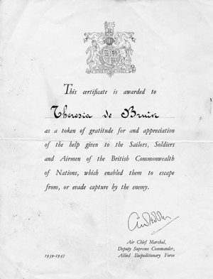 Certificate of appreciation for Theresia de Bruin 1.tif