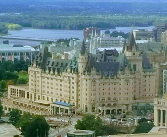 Château Laurier - View from south-west