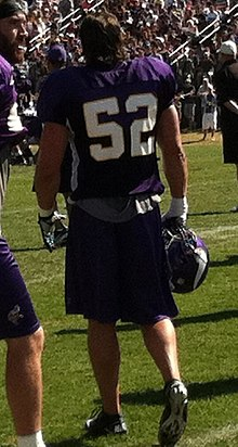 Description de l'image  Chad Greenway TrainingCamp.jpg.
