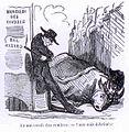 Cham - Deux rois détrônés (le boeuf gras et Musard) 1851.jpg