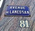 Champagne-au-Mont-d'Or - Avenue de Lanessan (plaque) - juin 2018.jpg