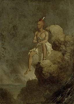 Charles Deas - Indian Warrior on the Edge of a Precipice
