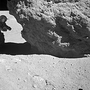 Charlie Duke near Shadow Rock, Apollo 16