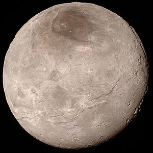 Charon (moon) - Charon in approximate true color as viewed by New Horizons on 13 July 2015