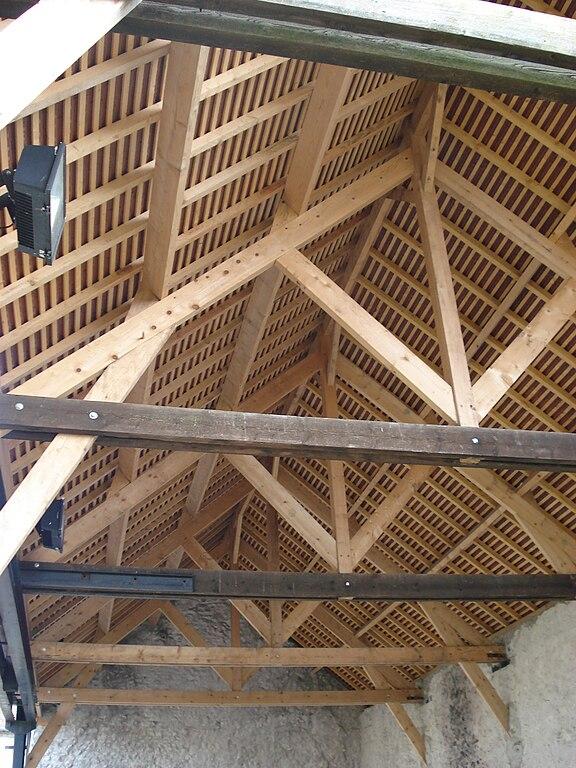 File Charpente grange de la ferme briarde de Boussy Saint Antoine jpg Wikimedia Commons # Charpente Bois Plan