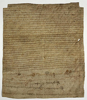 Agilbert - The charter of Clotilde, 10 March 673, endowing the monastery of Bruyères-le-Châtel; witnessed by Agilbert, this is his last appearance in the historical record