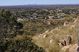 View of Charters Towers from Alabama Hill