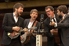 Chatham County Line performing at MerleFest in 2013 on the Cabin Stage.