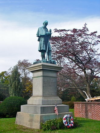 Rural cemetery - Civil War Memorial by Martin Milmore at Chester Rural Cemetery in Chester, Pennsylvania