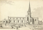 'The church in the eighteenth century as sketched by Samuel Hieronymus Grimm.'