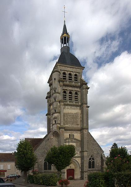 L'église Saint-Martin de Chézy-sur-Marne, Aisne, France.