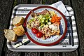 Chicken and ham pie salad Copped Hall house and gardens open day event, Essex, England 1.jpg