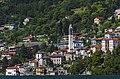 Chiesa Arcipetrale San Pietro e Paolo in Nesso, seen from Lake Como ferry.jpg