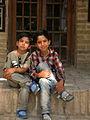 Children in Ribat-i-Abbasi of Nishapur (Hossein - Ali - Fatemeh - Hengameh and another girl - probably Afghani) 01.jpg