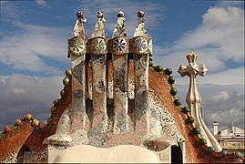Chimneys of Casa Batlló - Barcelona 2014.jpg