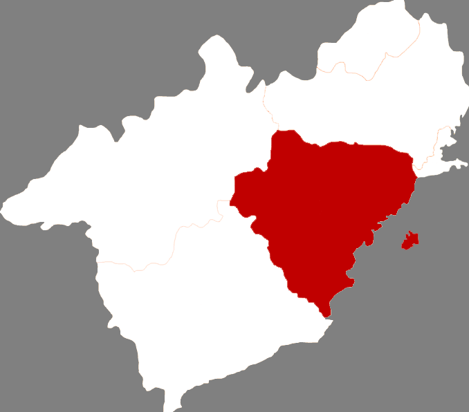Location in Huludao City