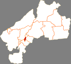 Location of Longsha District in Qiqihar