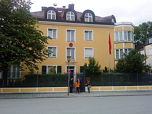 Chinese intelligence activity abroad - Image: Chinese consulate in Munich