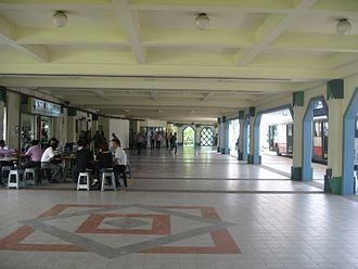 Choa Chu Kang Bus Interchange - Alighting berths at CCKI and the N.T.W.U. Canteen of the left