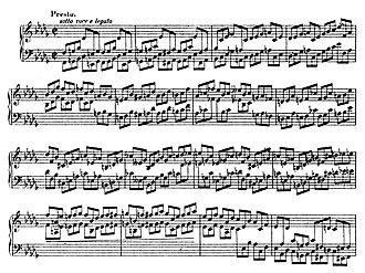 Piano Sonata No. 2 (Chopin) - Opening of the finale