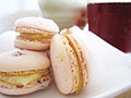 Chopped strawberry macaron parisien with lemon curd filling.jpg