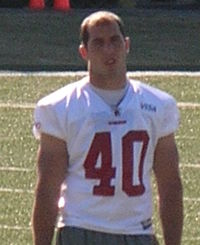 Chris Maragos at 49ers training camp 2010-08-11.JPG