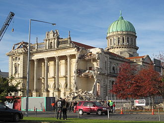 Cathedral of the Blessed Sacrament, Christchurch - Damage from the 22 February 2011 earthquake