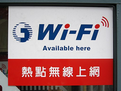 Chunghwa Telecom Wi-Fi available tag