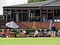 Church Times Cricket Cup final 2019, pavilion spectators 3.jpg