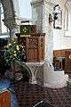 Church of St Mary the Virgin, Woodnesborough, Kent - pulpit.jpg