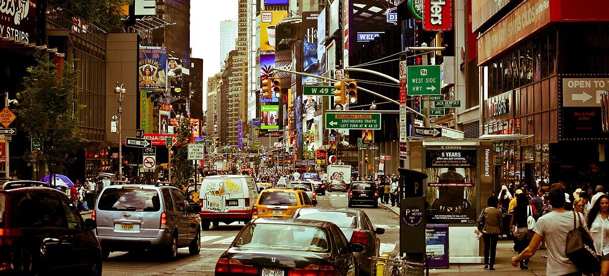 Broadway new york ceety wikipedia for B b new york centro