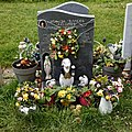 City of London Cemetery modern gravestones 6 wreath flower displays and artifacts.jpg